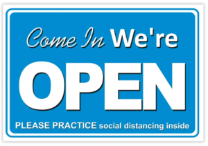 We are open now.